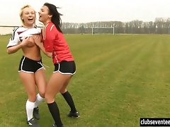 Lesbian soccer players have some fun on the fieldvideo