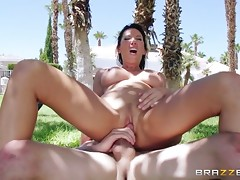 Lezley Zen knows how to work those fine big titties the right wayvideo